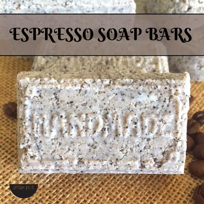 Espresso Soap Bars DIY | The Inspired Little Pot