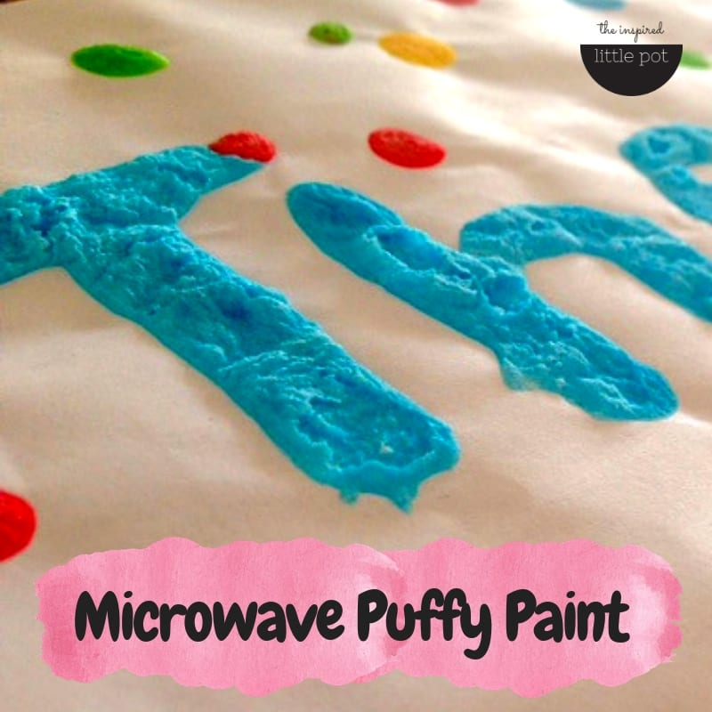 Microwave Puff Paint | The Inspired Little Pot