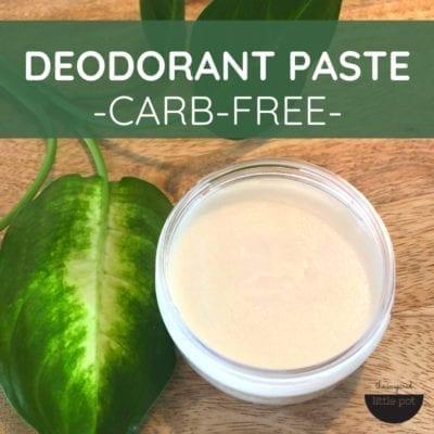 Carb-Free Deodorant Paste