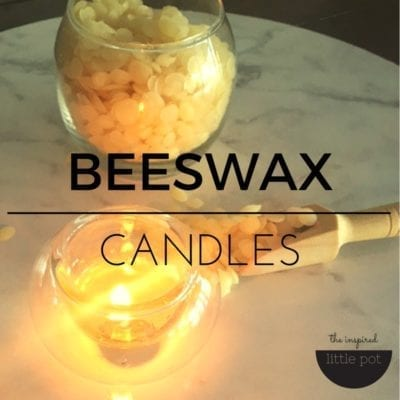 Simple Beeswax Candles