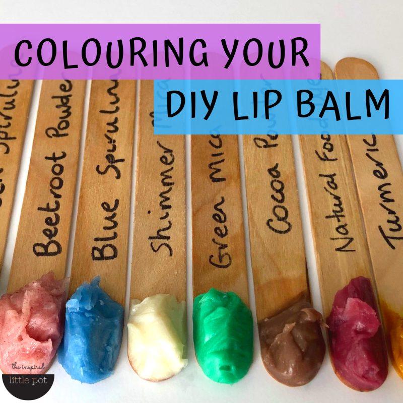 Colouring Your DIY Lip Balm