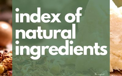 Index of Natural Ingredients