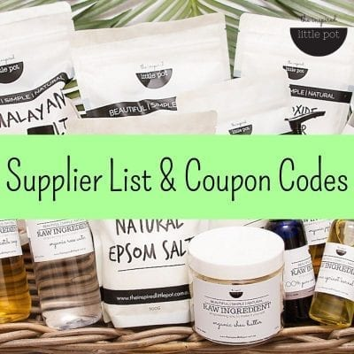 My Favourite Suppliers Of Natural Ingredients, Packaging & Accessories