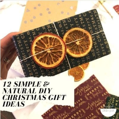 12 Simple and Natural DIY Christmas Gift Ideas