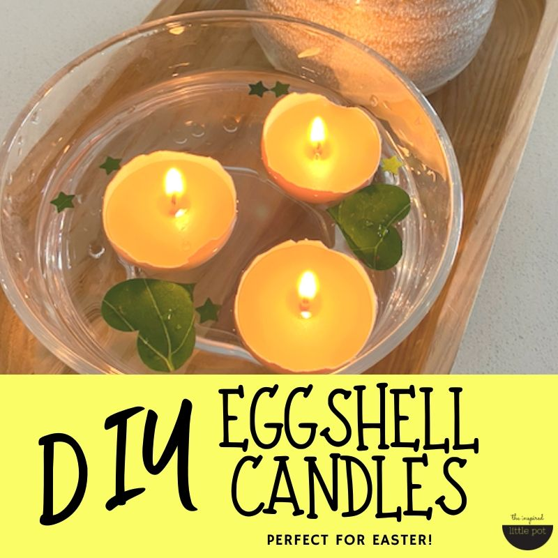 Eggshell Candles | The Inspired Little Pot