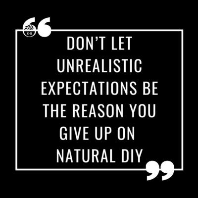 Unrealistic expectations are nobody's friend