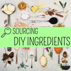 Sourcing DIY Ingredients