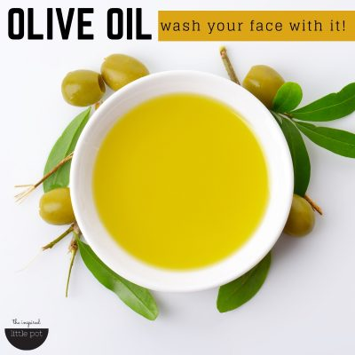 Wash your face with oil