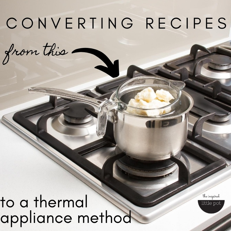 Converting recipes for thermal appliances and microwaves